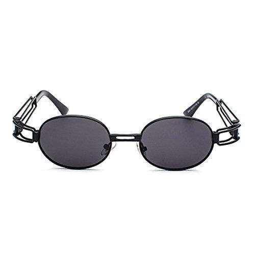 gafas Gafas señoras los hombres transparente marco ovales sol de lente de Gafas de de Huicai redondas metal de de Lentes Negro aqwHU8xP6