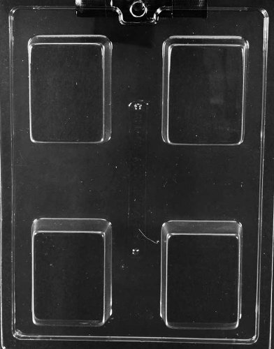 (Plain Rectangle Chocolate & Soap Mold - AO140 - Includes Melting & Chocolate Molding Instructions)