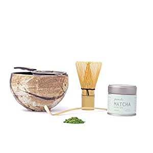 Matcha Tea Gift Set with Strainer, Bowl to Make Japanese Green Tea – 1 Kit