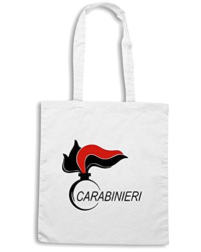 T-Shirtshock - Bolsa para la compra OLDENG00030 carabinieri (5) Blanco