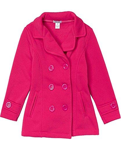 TOP LEGGING TL Childrens Warm Sherpa Lined Parka Anorak Jackets Coats and Bomber Jackets 12_Fuchsia 10/12