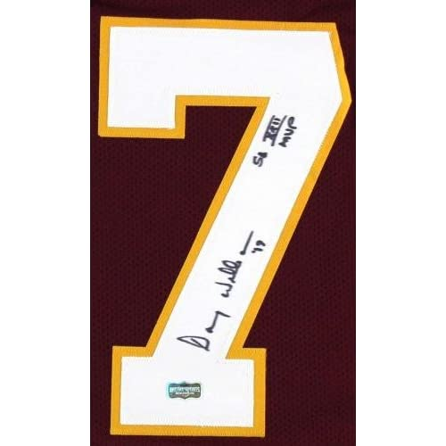 1e0881e2 best Doug Williams Signed Washington Redskins Maroon Custom Jersey with