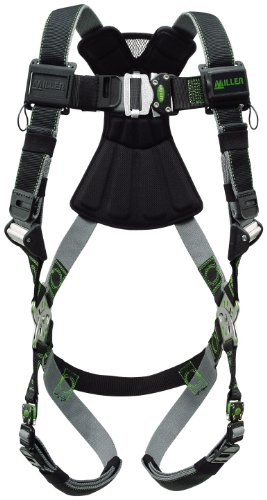 Safety Connector - Miller Revolution Full Body Safety Harness with Quick Connectors, Universal Size-Large/XL, 400 lb. Capacity (RDT-QC/UBK)