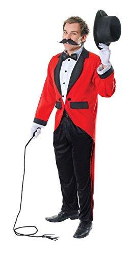 Ringmaster Costume Party City (Black & Red Men's Ringmaster Costume)