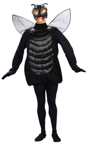 [Forum Novelties Men's Creepy Fly Adult Costume and Mask, Black, Standard] (Fly Costumes)