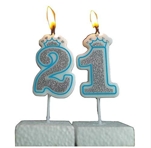 CandelaCreative blu Crown Compleanno Numero Candela 0-9
