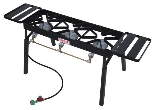 Bayou Classic TB650 Triple Burner Outdoor Patio Stove with Extension Legs by Bayou Classic
