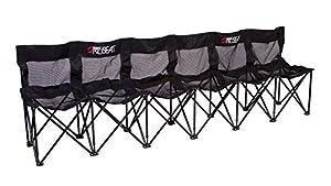 Amazon.com : Sweat Bench - 6 Seat Folding Bench with Back - Black ...