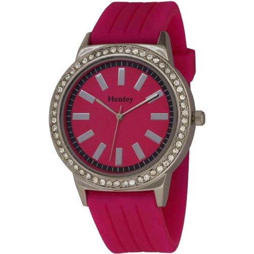 Henley Damen-Armbanduhr Henley Analog Silikon pink H0838.5N