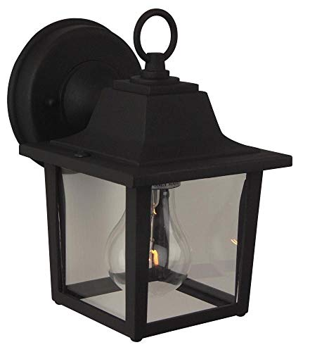 Craftmade Lighting Z190-TB Cast Aluminum Porch Wall Mount, Matte Black Finish with Frost Glass