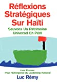Réflexions Stratégiques Sur Haïti, Luc Rémy, 1479758272