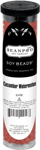 (Beanpod Candles Cucumber Watermelon Soy Beads, 2.3oz,2.3-Ounce)