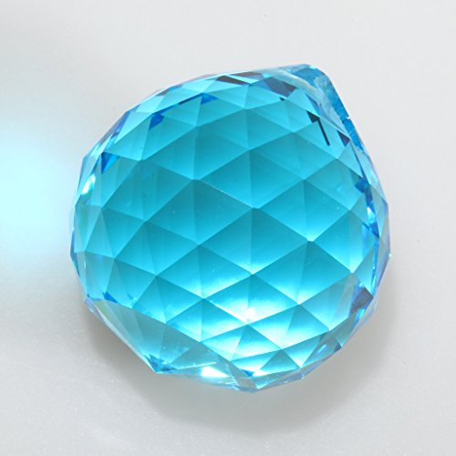Waner 30mm Blue Crystal Ball Prisms Pendant Feng Shui Crystal for Positive Energy
