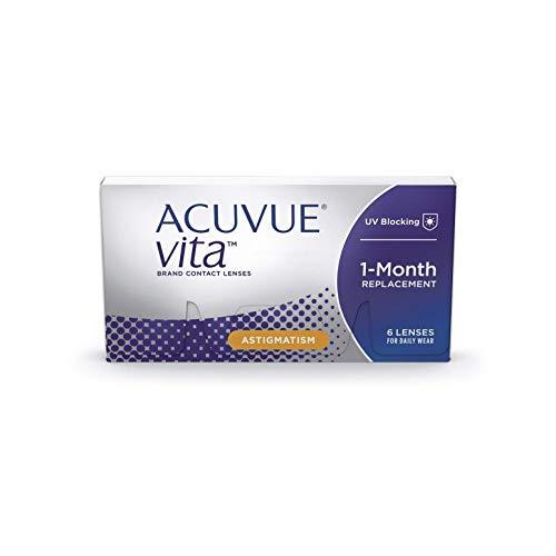 ACUVUE Kontaktlinsen Vita for Astigmatism Monatslinsen weich, 6 Stück / BC 8.6 mm / DIA 14.5 / CYL -1.75 / Achse 10 / -3.75 Dioptrien