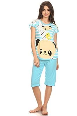 Lati Fashion 5006C Women Capri Pajama Sets Two Pieces Sleepwear