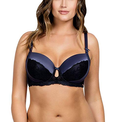 PARFAIT Women's Contour Padded Bra 32FF UK Nightshadow, Mariela P5581