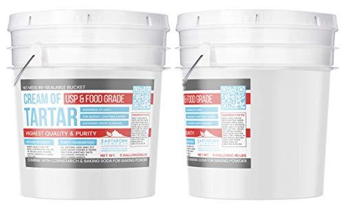 Cream of Tartar (5 Gallon) by Earthborn Elements, Resealable Bucket, Highest Purity, Baking Additive, Non-GMO, Kosher, Gluten-Free, All-Natural, DIY Bath Bombs by Earthborn Elements (Image #2)