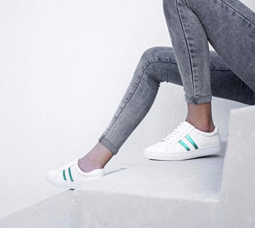 Flat Shoes New Puoli Pää Student Version Women Pyöreä Kengät Casual The Shoes Side Round Rento Korean Matalat Version Head Khskx For Green Opiskelija Uusi Of Naisten Khskx 38 38 White Korean the Kengät Valkoiset vihreä R0WTqP