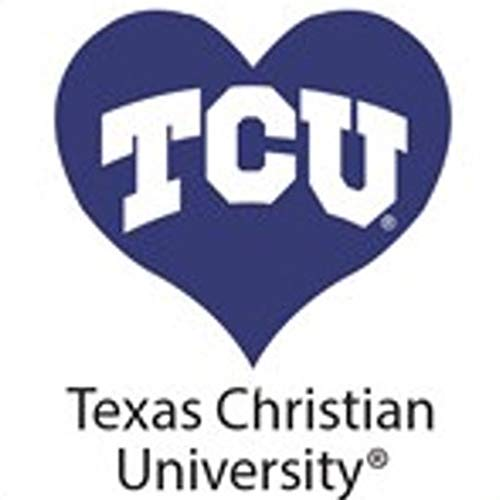 Purple Heart Tattoos (Fan A peel Texas Christian University (TCU) Horned Frogs - Waterless Peel & Stick Temporary Spirit Tattoos - 4-Piece - White TCU Logo on Purple)