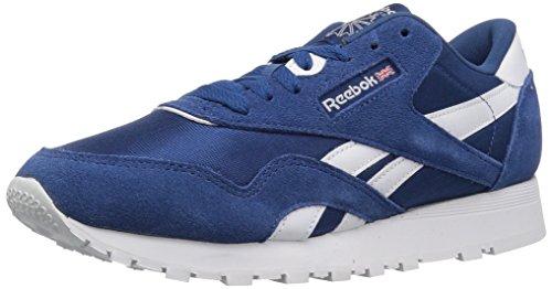 Watches Children Shoe (Reebok Unisex Classic Nylon Sneaker, Bunker Blue/White, 4.5 M US Big Kid)