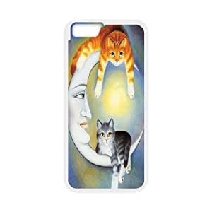 """For Apple Iphone 6,4.7"""" screen Cases Smart Cat Art Pattern Protective Back Case-Style-17"""
