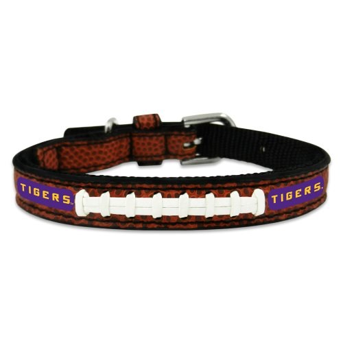 NCAA LSU Tigers Classic Leather Football Collar, Toy