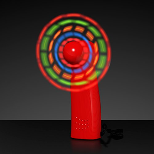 FlashingBlinkyLights Light Up LED Mini Handheld Fan with Red Handle]()