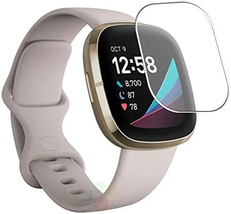 Puccy 3 Pack Screen Protector Film, appropriate with Fitbit Sense TPU Guard ( Not Tempered Glass Protectors )