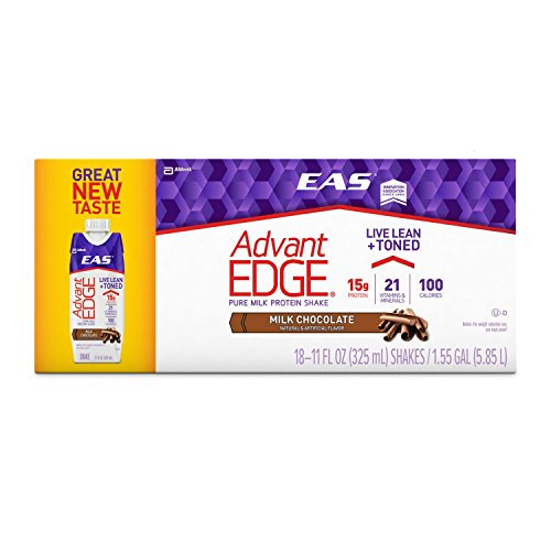 EAS AdvantEDGE Ready-to-Drink Protein Shake 11 oz, Milk Chocolate (18 ct.)