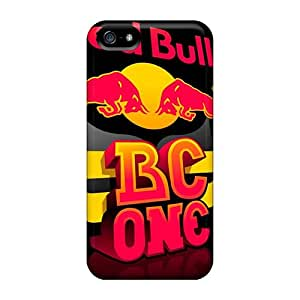Iphone 5/5s Hard Back With Bumper Silicone Gel Tpu Case Cover Redbull