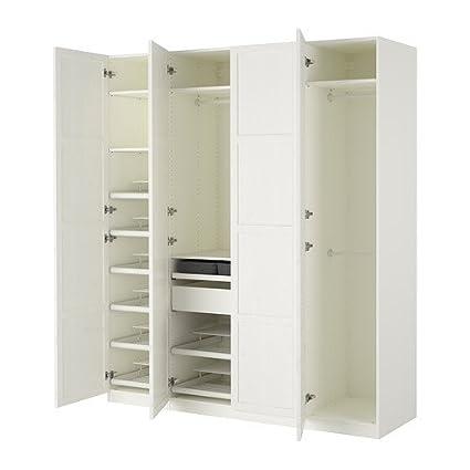 Amazon com: Ikea Wardrobe, white, Hemnes white 6382 81723