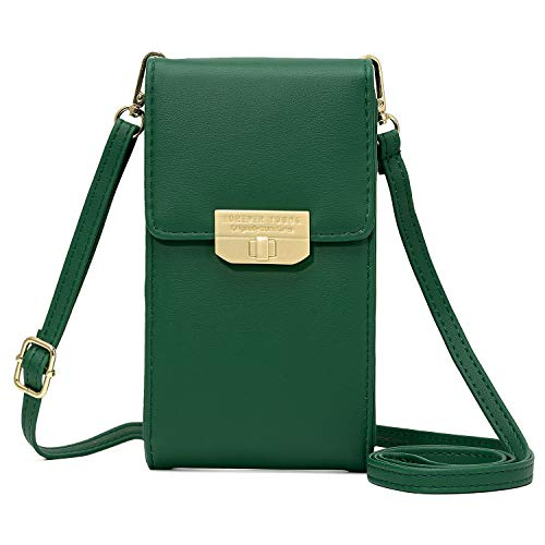 - KOFNEKA Small Crossbody Bag Cell Phone Purse Wallet with Credit Card Slots for Women (Dark green2)