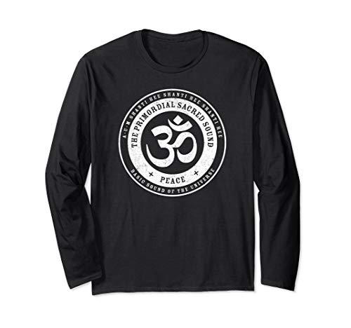 Yoga Aum Om Ohm India Mantra Peace Unisex Long T shirt - Hindu Om Sign
