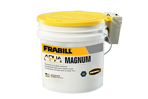 Frabill MIN-O2-LIFE Aerated Bait Bucket, 4.25-Gallon with - Bait Quart 8 Bucket