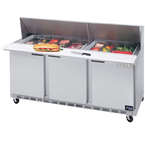- Beverage-Air SPE72-12 M Mega Top Refrigerated Salad/Sandwich Prep Table