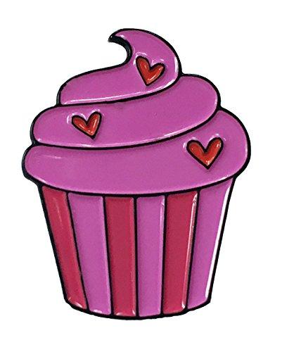 Strawberry Cupcake Design Enamel Pin Pastry Lover