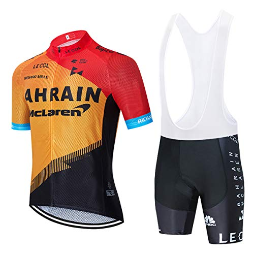 fietskleding voor mannen, zomer korte mouw fietskleding met 5D Gel pad