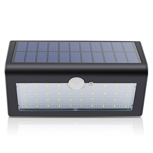 Binval Solar Wall Lights Motion Sensor 38 LED Waterproof Security Wireless Motion Sensor Wall Light for Outdoor Patio Deck Yard Garden Fence Driveaway(1-pack).