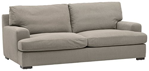 Stone & Beam Lauren Down Filled, Overstuffed Sofa, 89″W, Slate