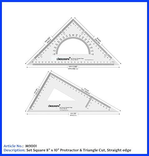 deepak LINOGRAPH Set Square Protractor & Triangle Cut 8x10 Inches 45/60 (B076NF35J2) Amazon Price History, Amazon Price Tracker