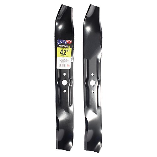 MaxPower 561547 2-Blade Set for 42 Inch Cut MTD/Cub Cadet/Troy-Bilt Replaces 742-3033, 759-3830, ()