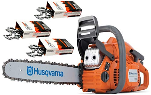 Husqvarna 450 (50cc) Cutting Kit, includes a 450 chainsaw PLUS 18' Bar/Chain PLUS 3 Extra WoodlandPRO Chain Loops