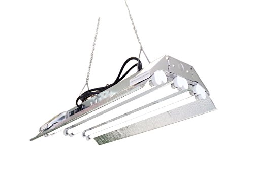 T5 HO Grow Light - 2 FT 6 Lamps - DL826S Fluorescent Hydroponic Fixture Bloom Veg Daisy Chain with Bulbs