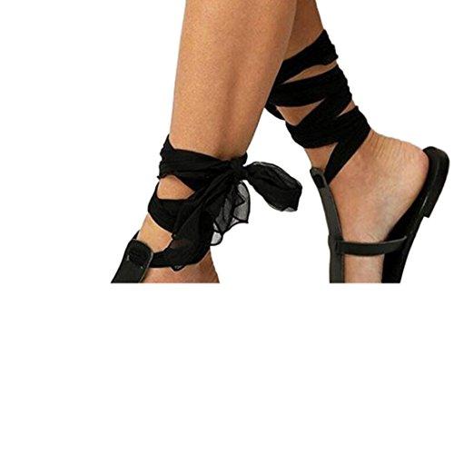 Kreuzgurt Strand Frauen Rutsch schwarz Anti Flache Sommer Schuhe Sandalen Band Damenmode Slipper Sandalen Knöchel römische wSIqw