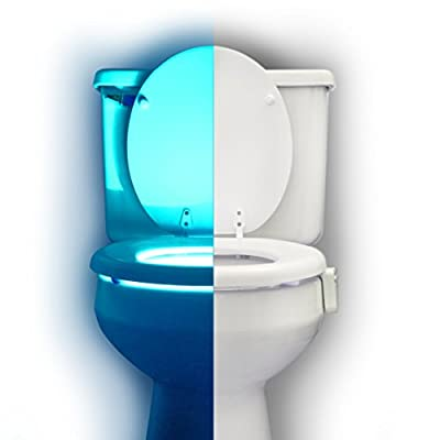 RainBowl Motion Sensor Toilet Night Light - Funny Unique Gift Idea for Him, Her, Men, Women & Birthday Kid - Cool New Gadget, Perfect as a Fun Gag Retirement Present