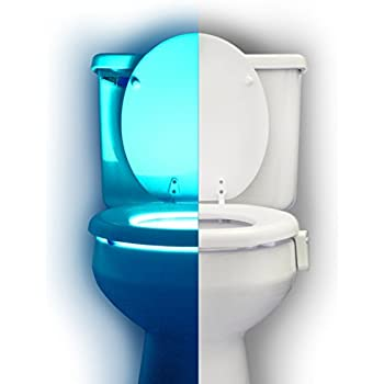 RainBowl Motion Sensor Toilet Night Light - Funny Unique Gift Idea for Him, Her, Men, Women & Birthday Kid - Cool New Fun Gadget, Best Gag Christmas Present