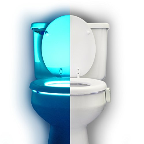 RainBowl Motion Sensor Toilet Night Light - Funny Unique Gift Idea for Him, Her, Men, Women & Birthday Kid - Cool New Fun Gadget, Best Gag Valentine's Day Present