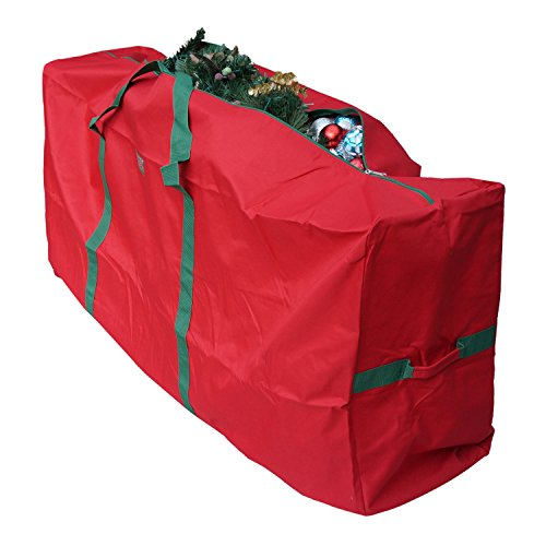 "K-Cliffs Christmas Tree Storage Bag Extra Large Duffel for Up to 9 Foot Tree Holiday Red, Dimensions 65"" x 30"" x 15"", Red by All Fine"