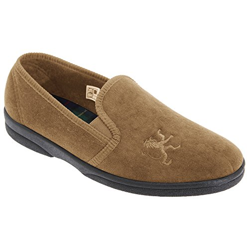 sleepers-mens-frazer-lion-motif-twin-gusset-slippers