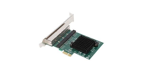 Tarjeta de Red Gigabit, 8104-T4 PCI-E 4 Puertos Chip de Control ...